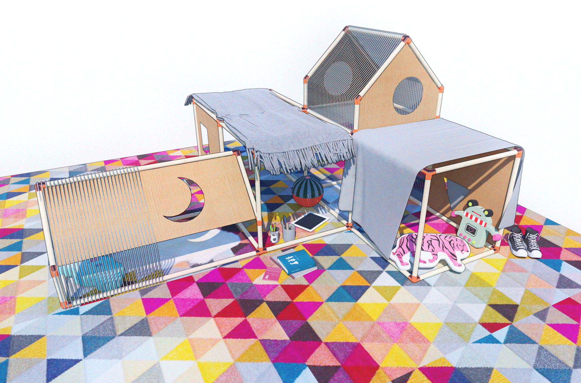 A DIY Kids Fort with Sound Barrier