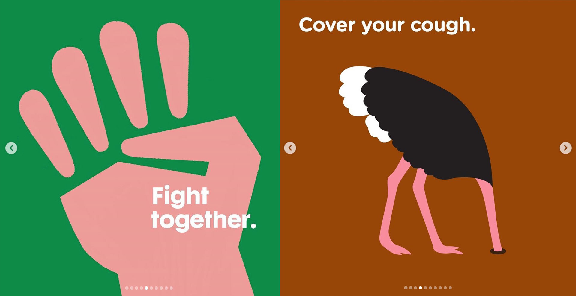 Light-Hearted Illustrations for Serious COVID-19 Awareness