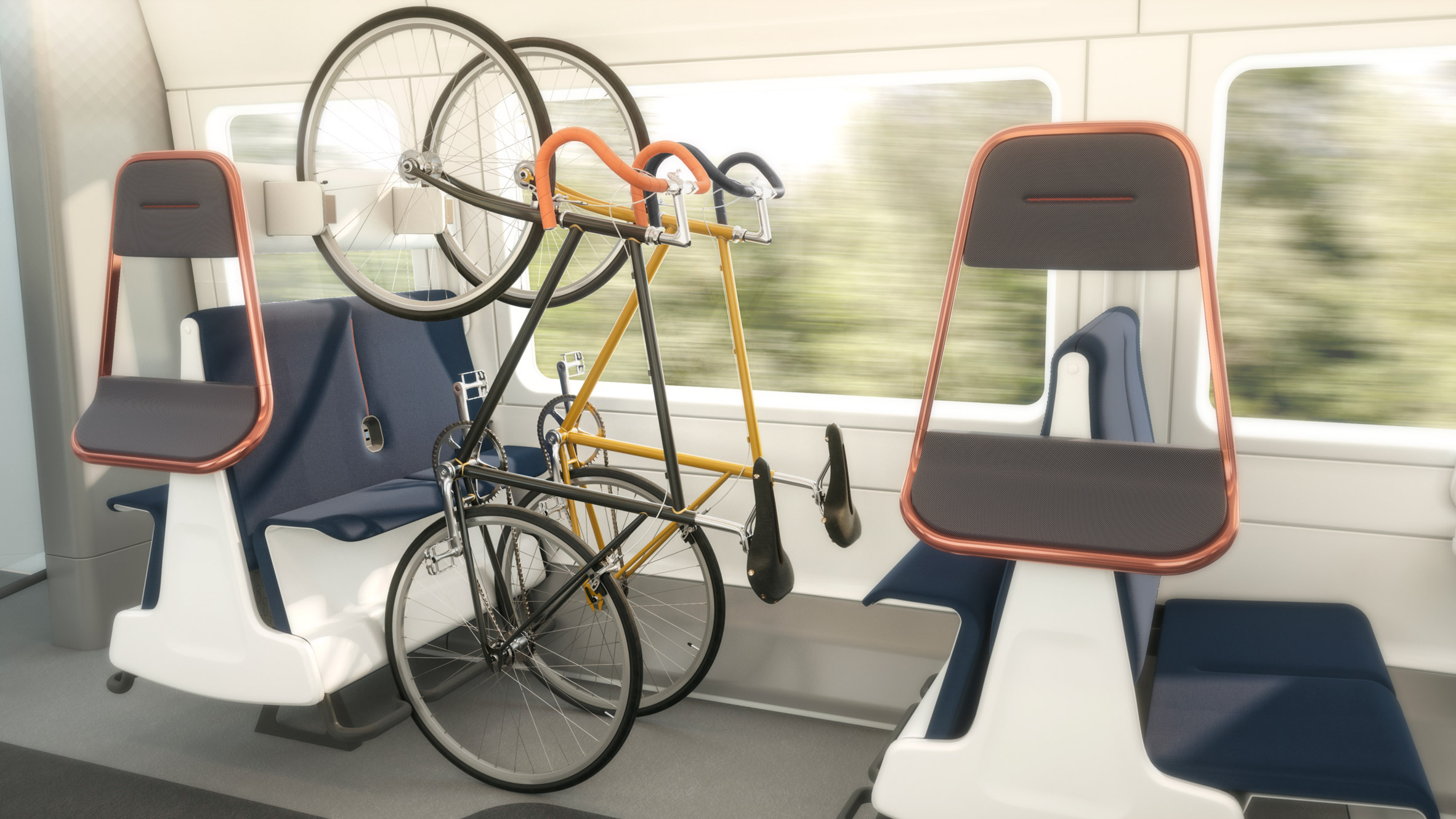 Expanded Bike Storage on Trains to Promote Social Distancing