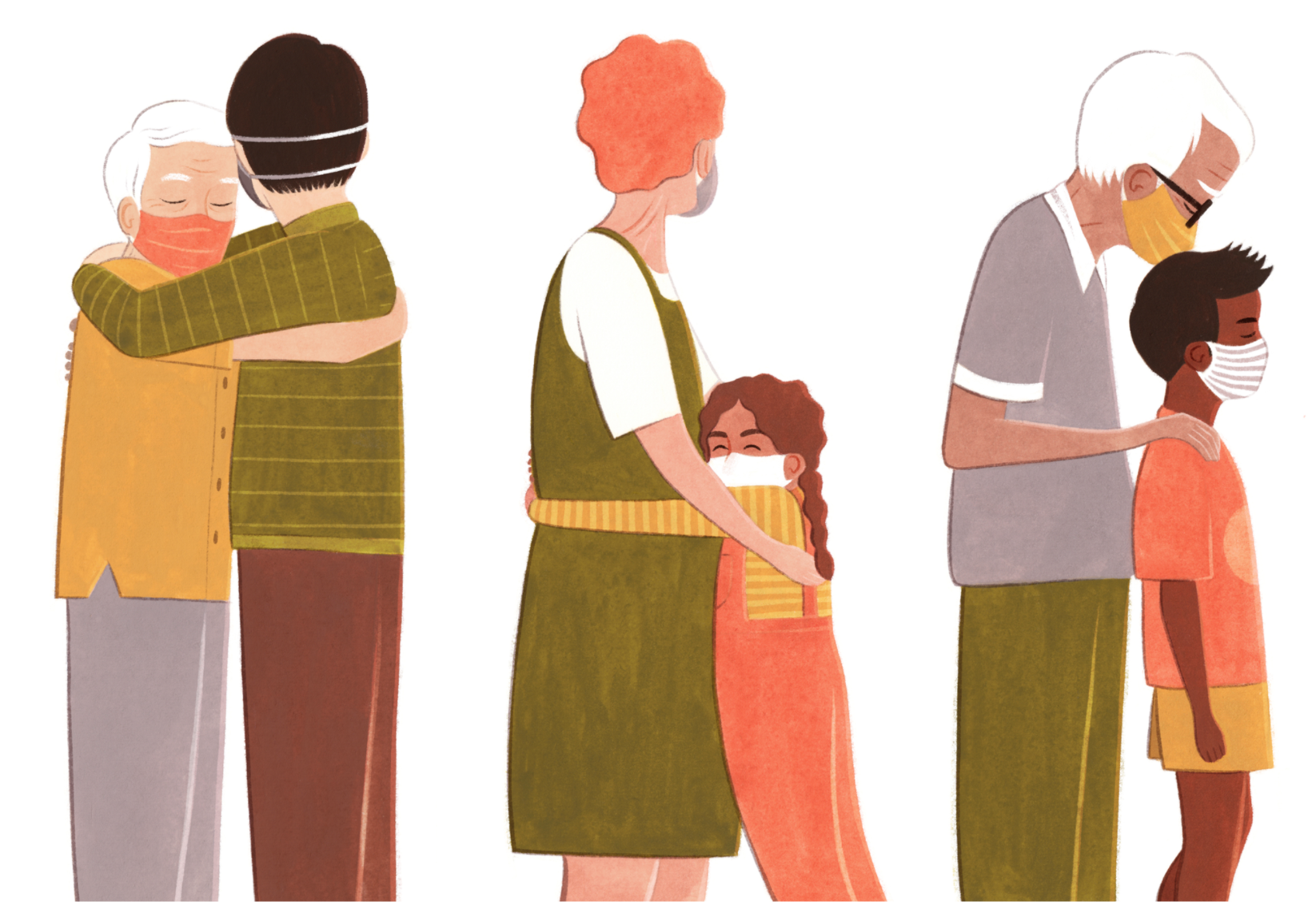 NYT Illustrates How to Hug Safely During COVID-19